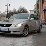Lexus - wynajem - auto do ślubu
